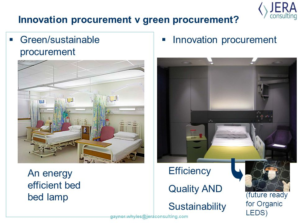Innovation procurement v green procurement