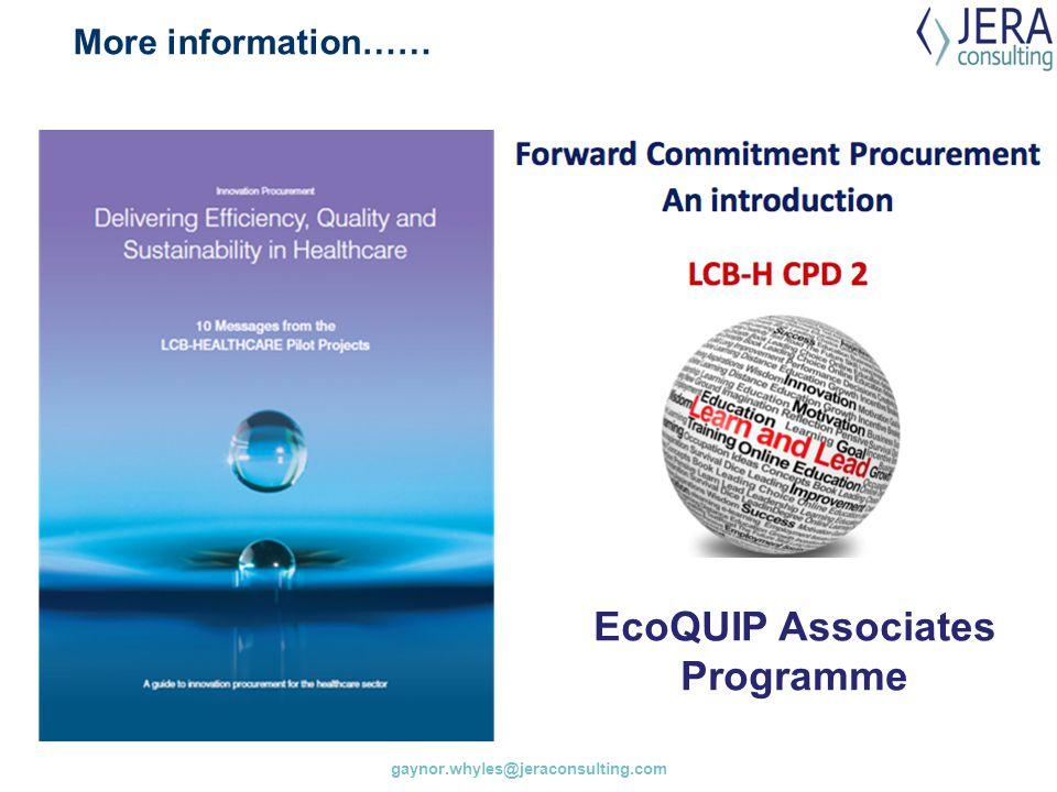 EcoQUIP Associates Programme