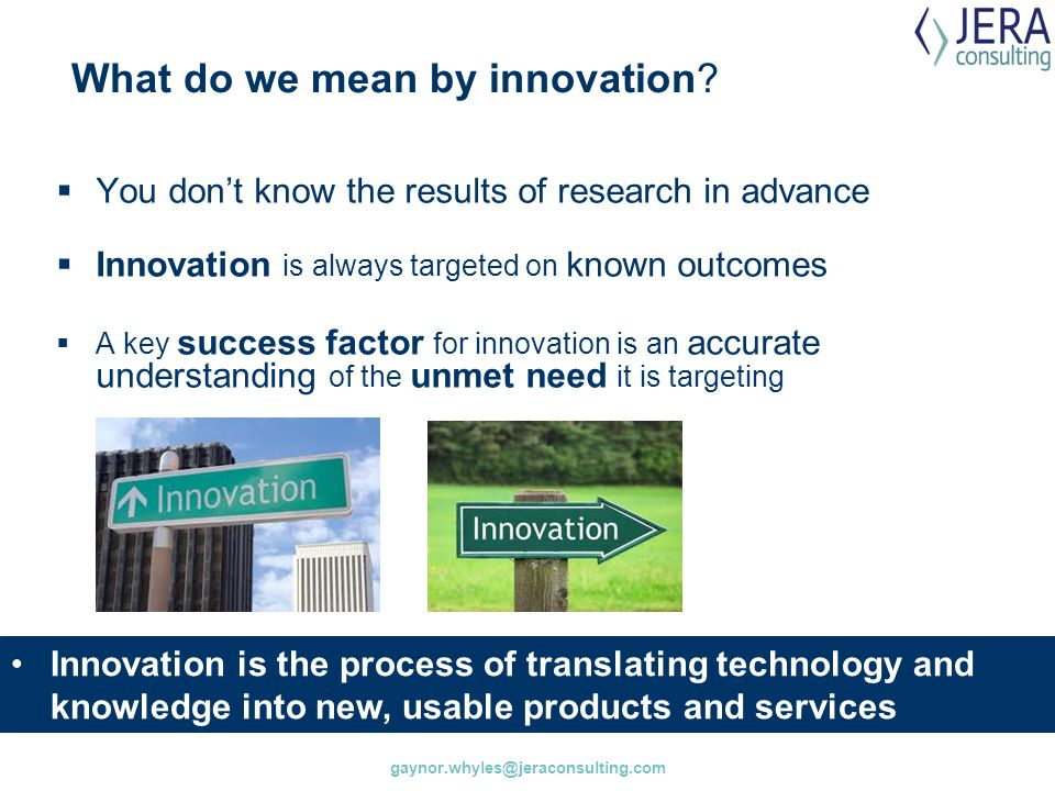 What do we mean by innovation