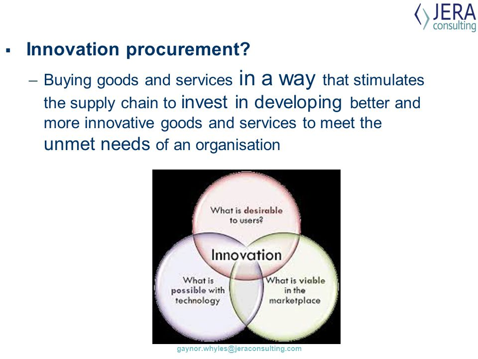 Innovation procurement