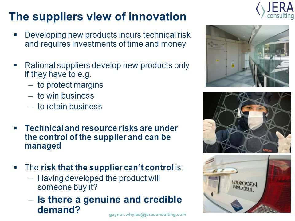 The suppliers view of innovation