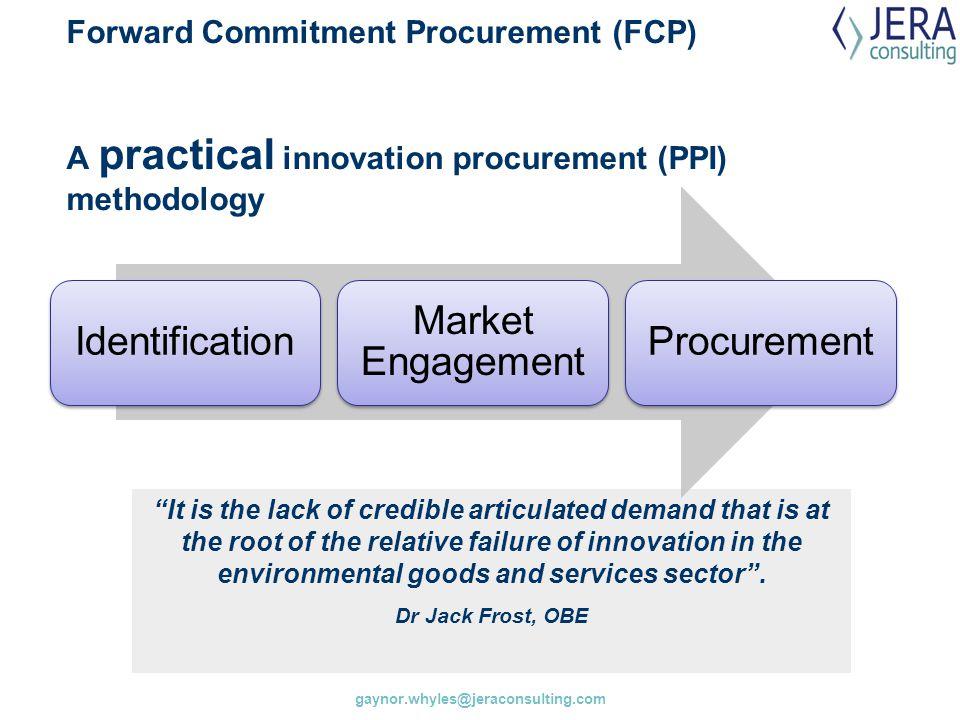 Identification Market Engagement Procurement