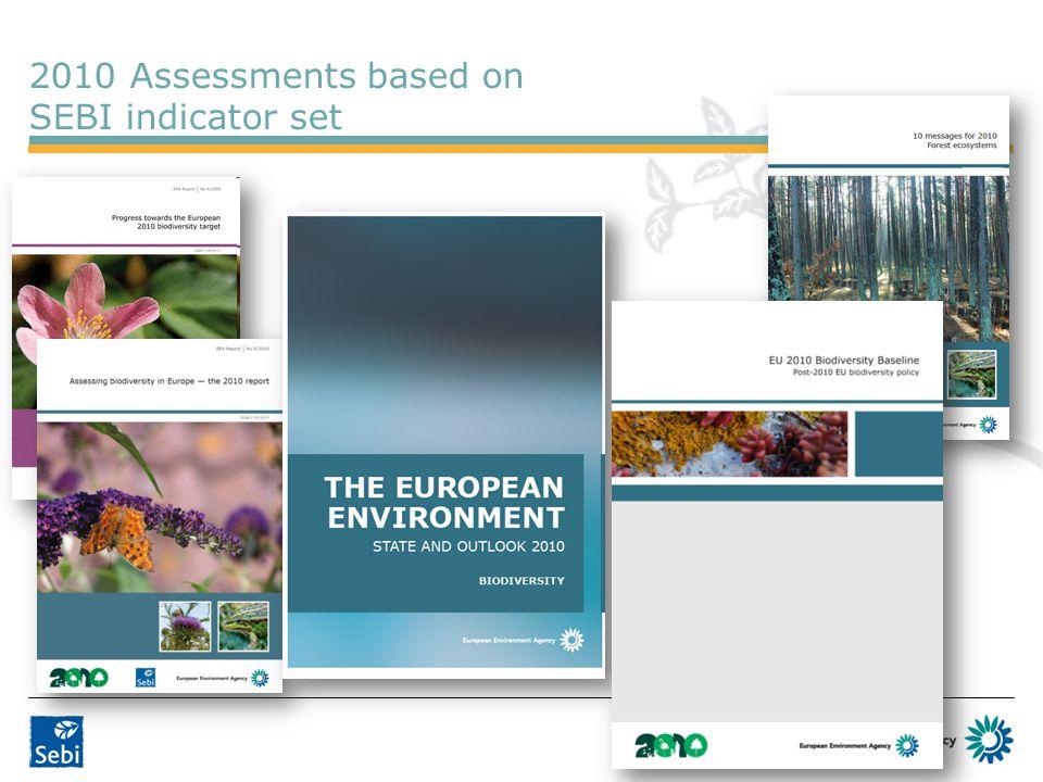 2010 Assessments based on SEBI indicator set