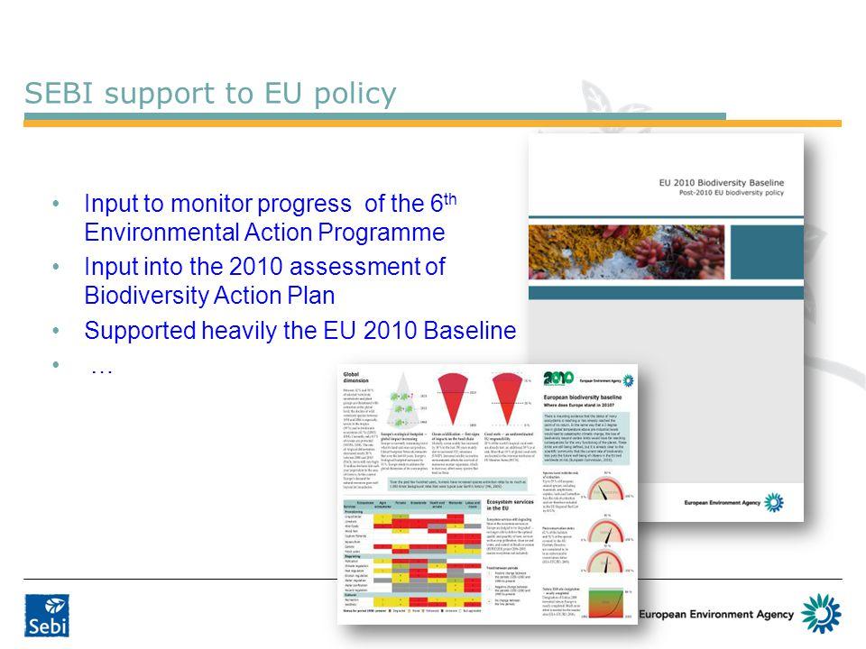 SEBI support to EU policy