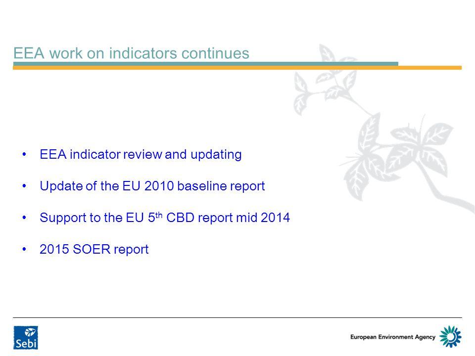 EEA work on indicators continues
