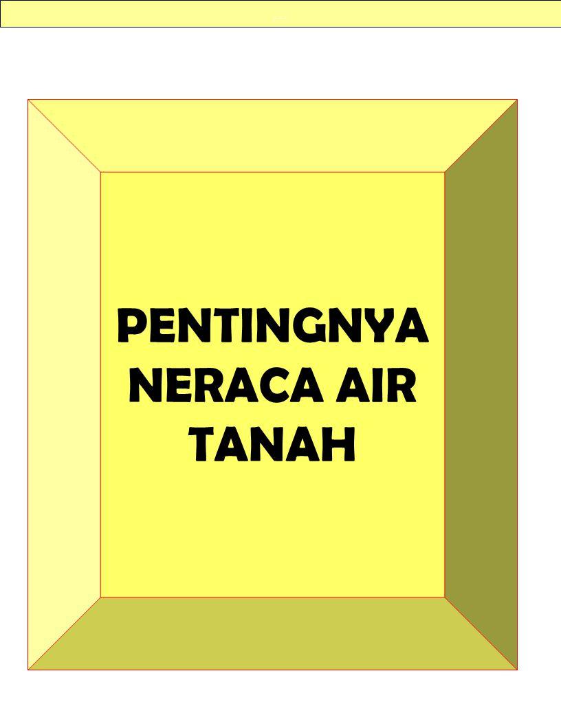 PENTINGNYA NERACA AIR TANAH