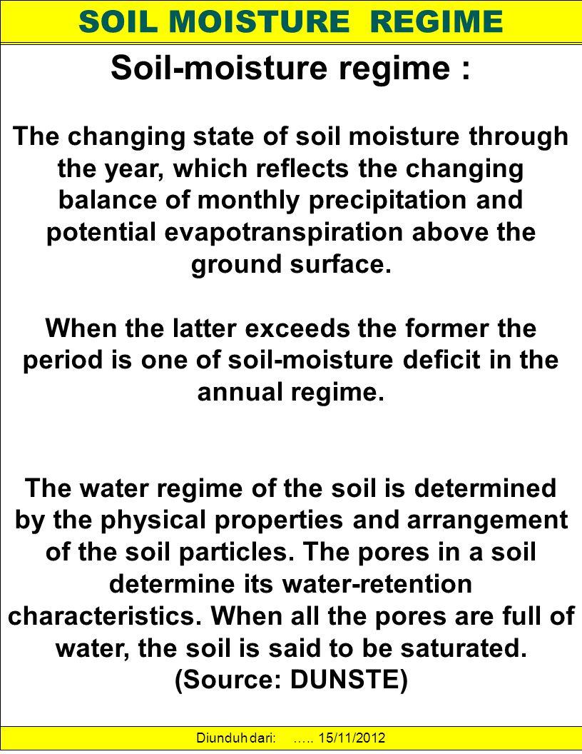 Soil-moisture regime :
