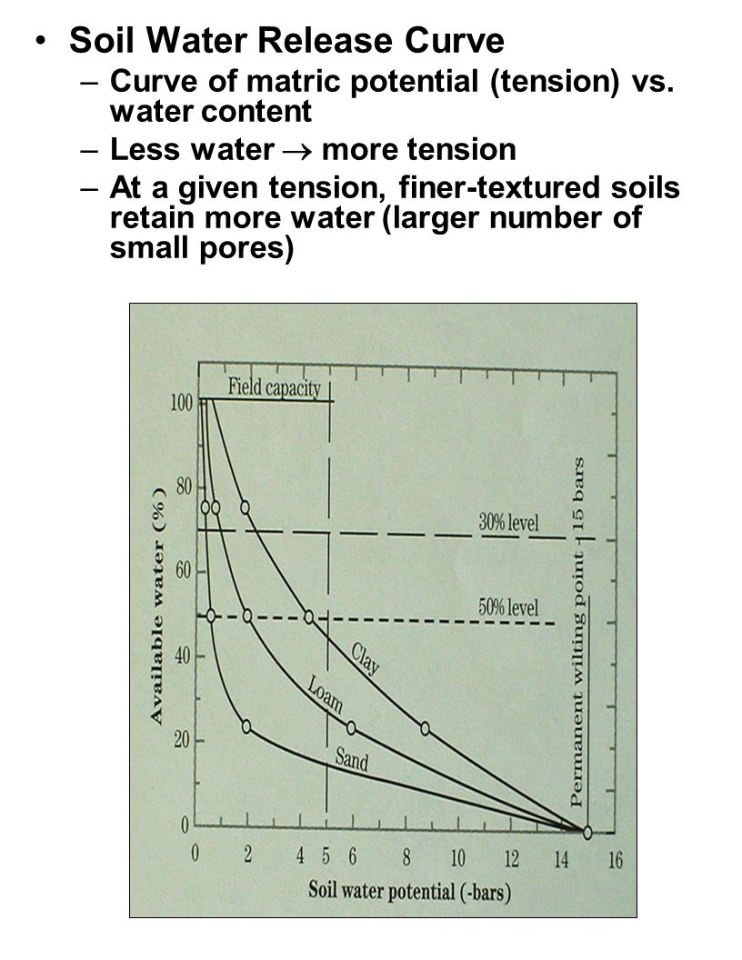 Soil Water Release Curve