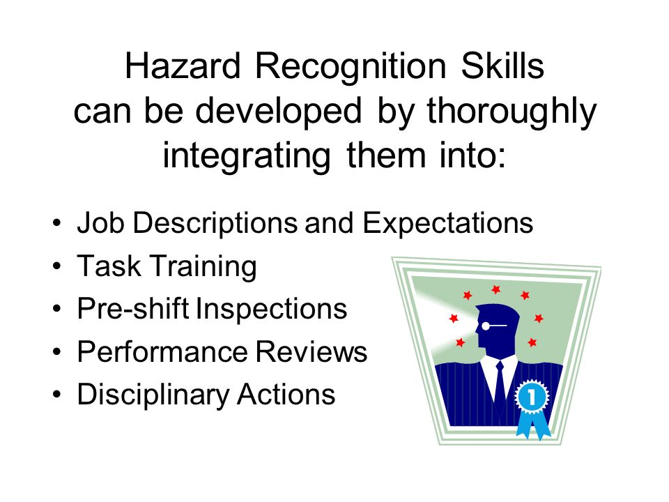 Hazard Recognition Skills can be developed by thoroughly integrating them into: