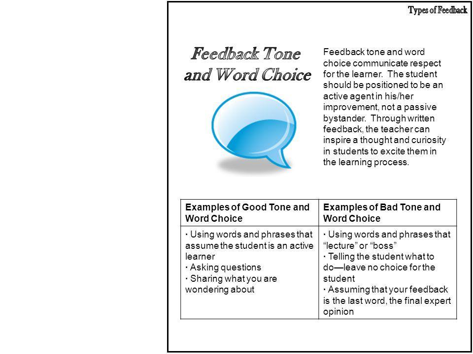 Feedback Tone and Word Choice