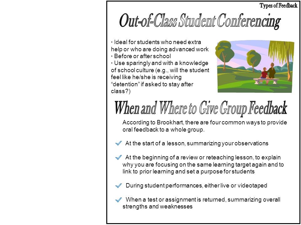 Out-of-Class Student Conferencing