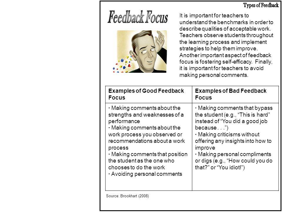 Types of Feedback Feedback Focus.