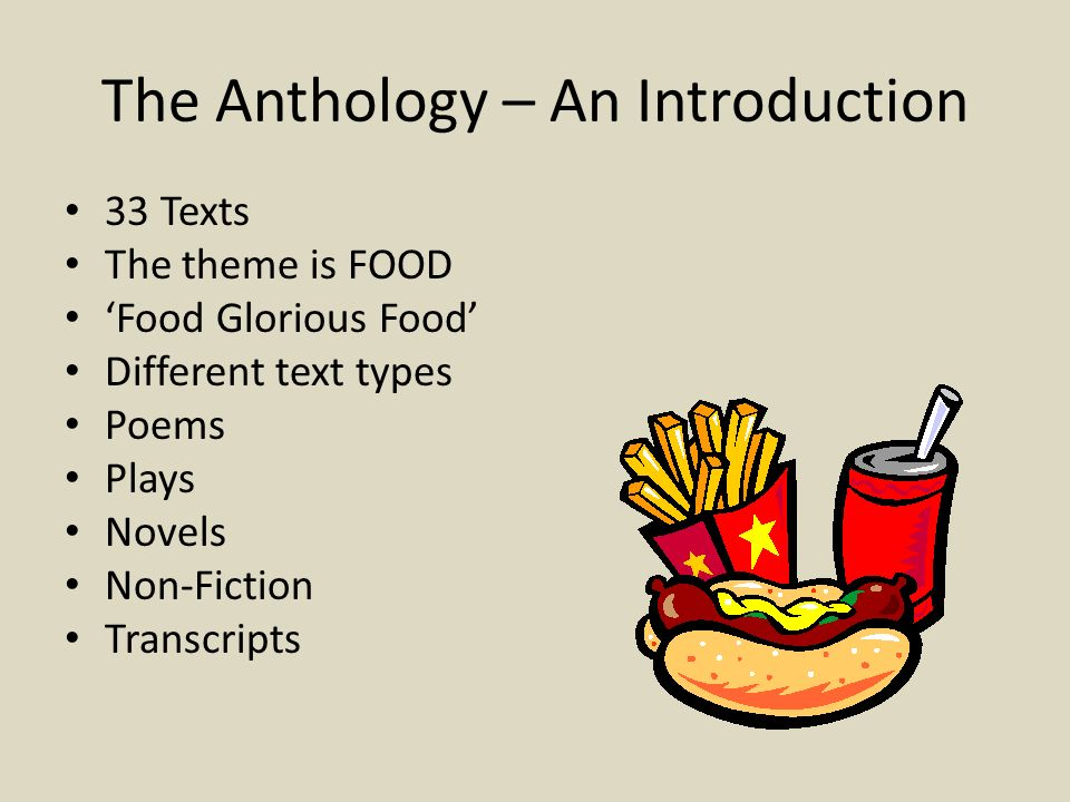 The Anthology – An Introduction