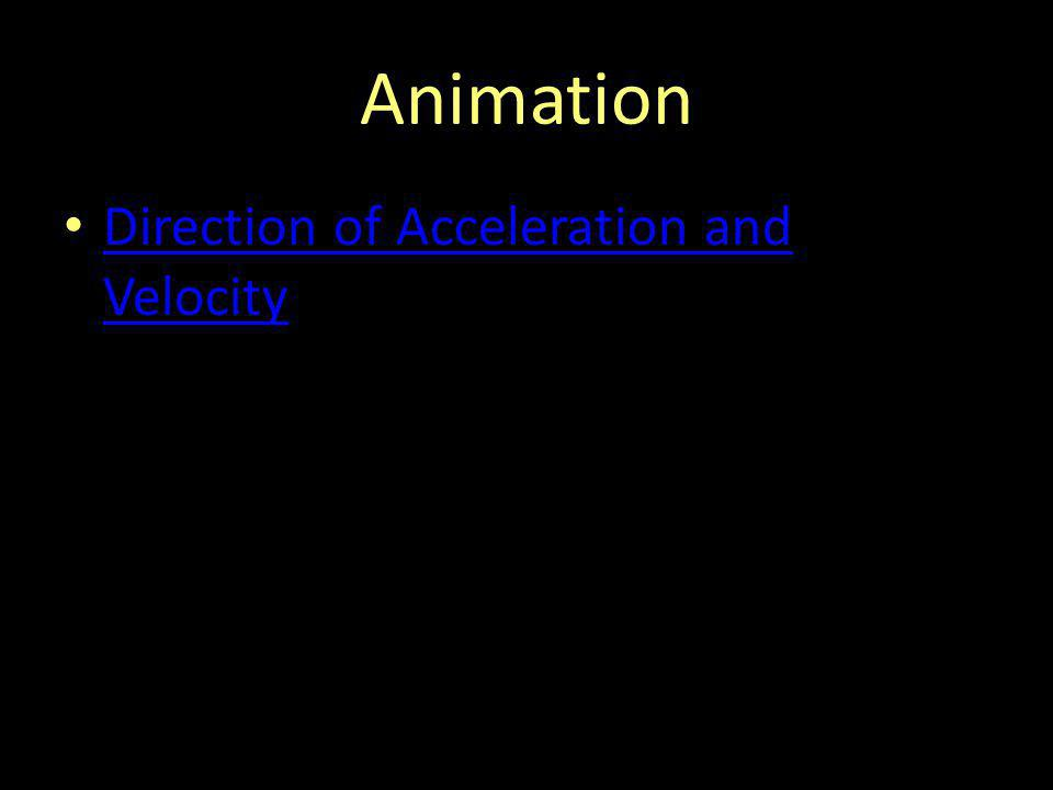 Animation Direction of Acceleration and Velocity