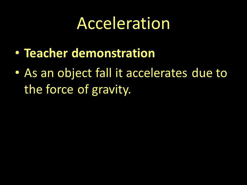 Acceleration Teacher demonstration