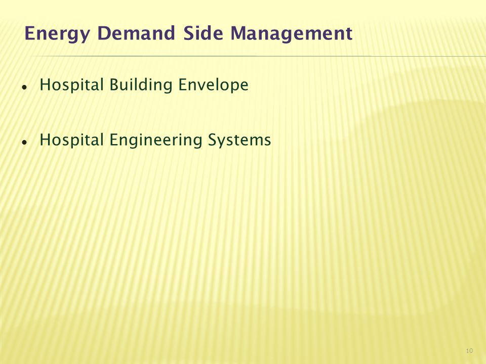 Energy Demand Side Management