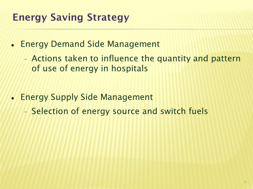 Energy Saving Strategy
