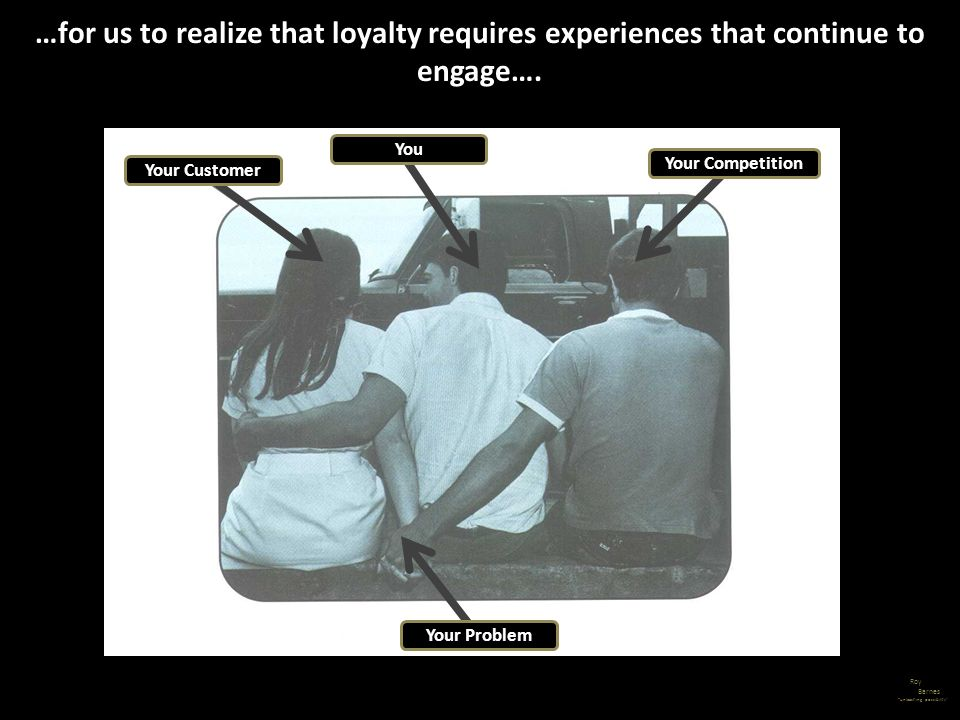 …for us to realize that loyalty requires experiences that continue to engage….