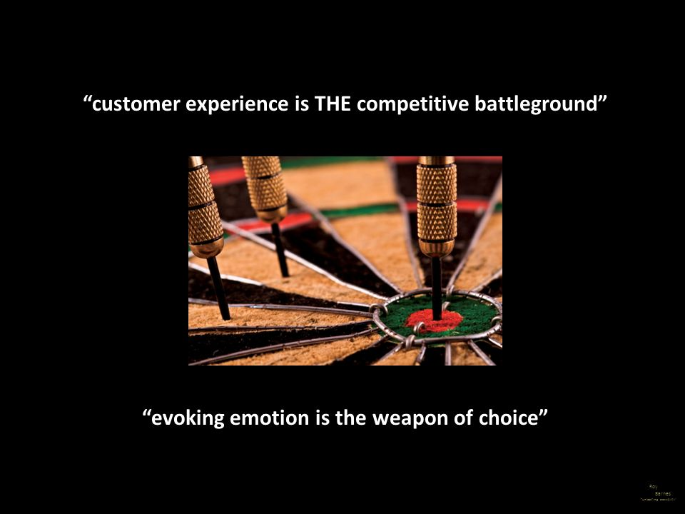 customer experience is THE competitive battleground