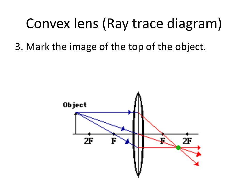 Convex lens (Ray trace diagram)