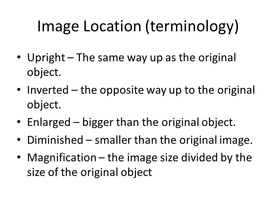Image Location (terminology)