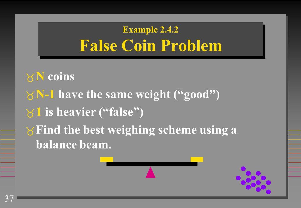 Example 2.4.2 False Coin Problem
