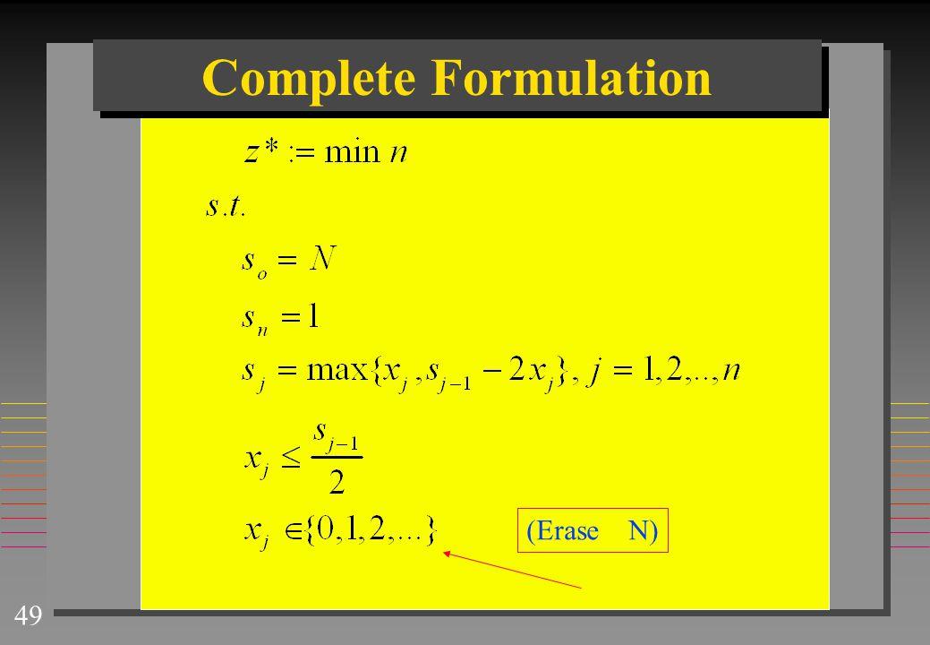 Complete Formulation (Erase N)