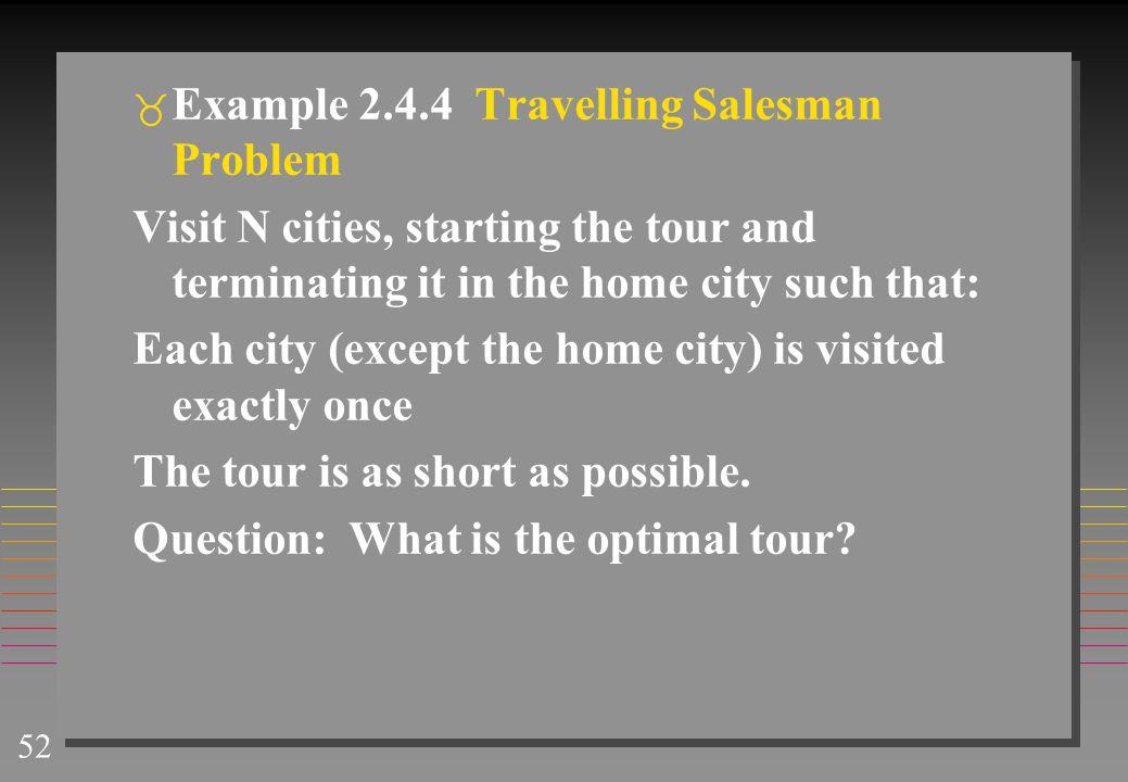 Example 2.4.4 Travelling Salesman Problem