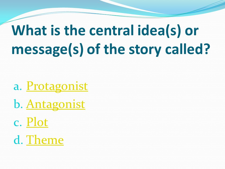 What is the central idea(s) or message(s) of the story called
