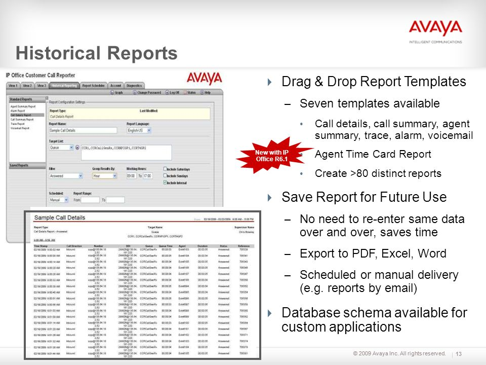 Historical Reports Drag & Drop Report Templates
