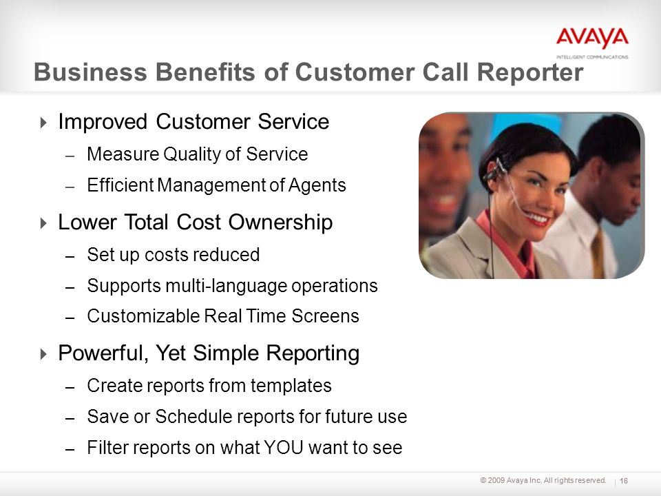 Business Benefits of Customer Call Reporter