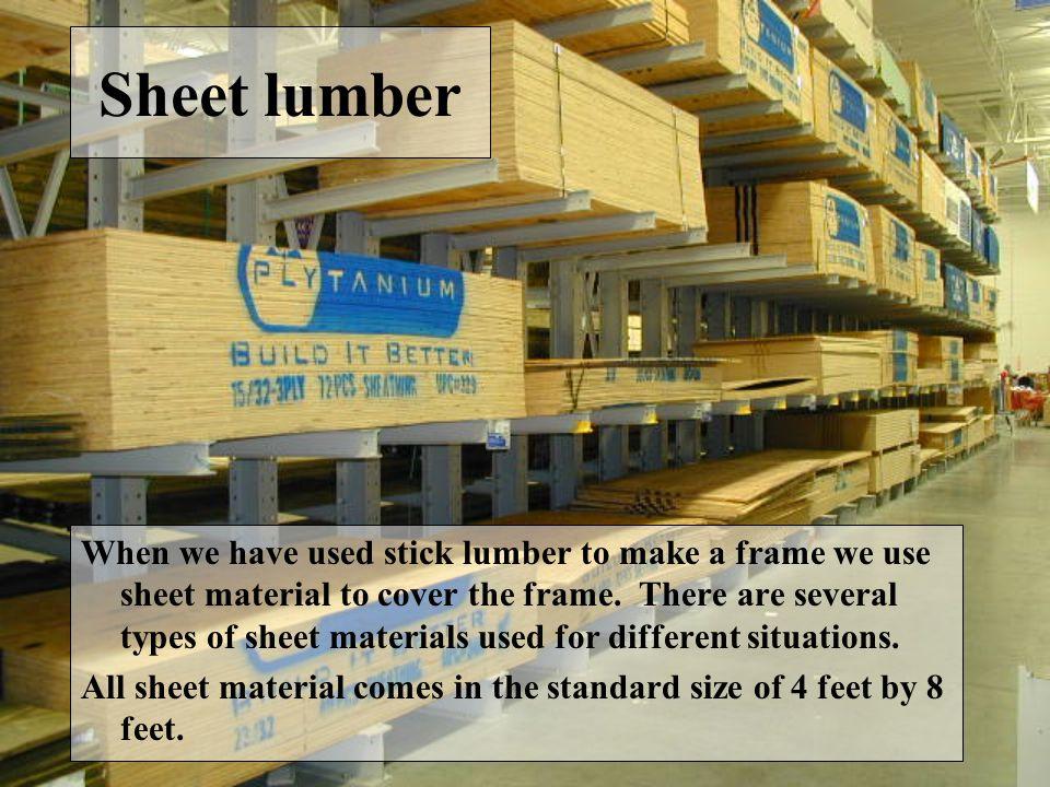 Sheet lumber
