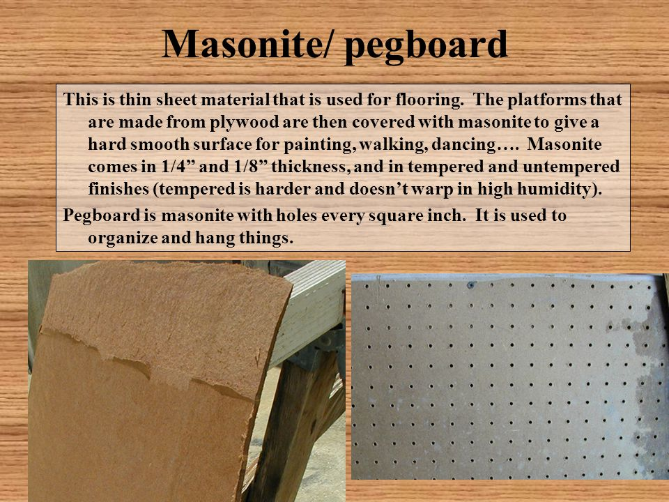 Masonite/ pegboard