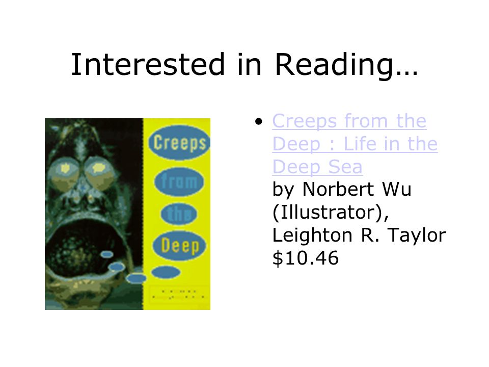 Interested in Reading…