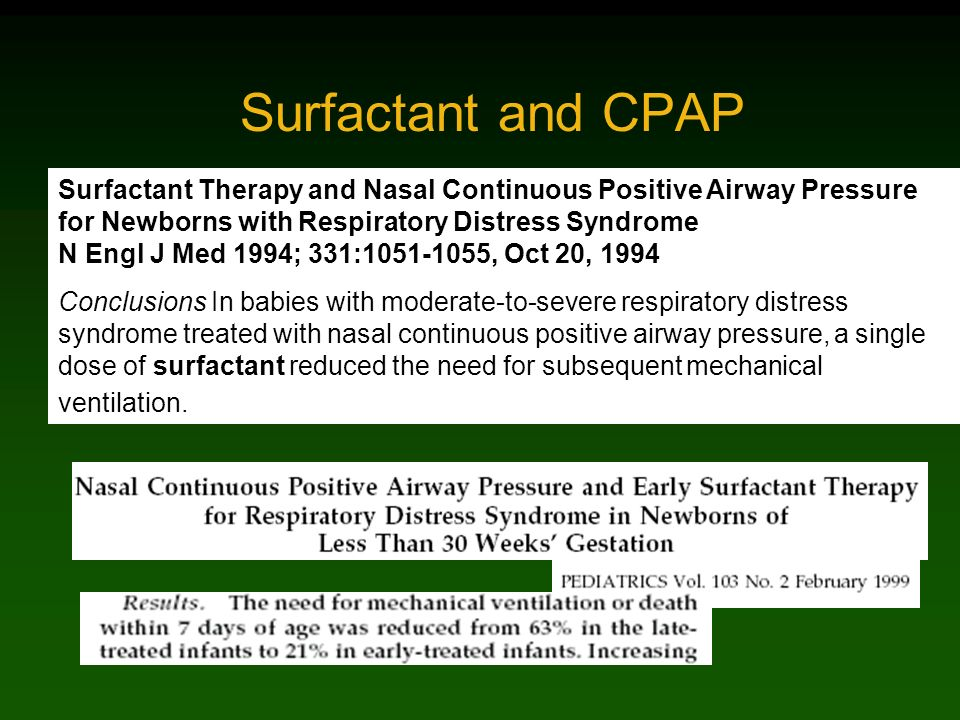 Surfactant and CPAP