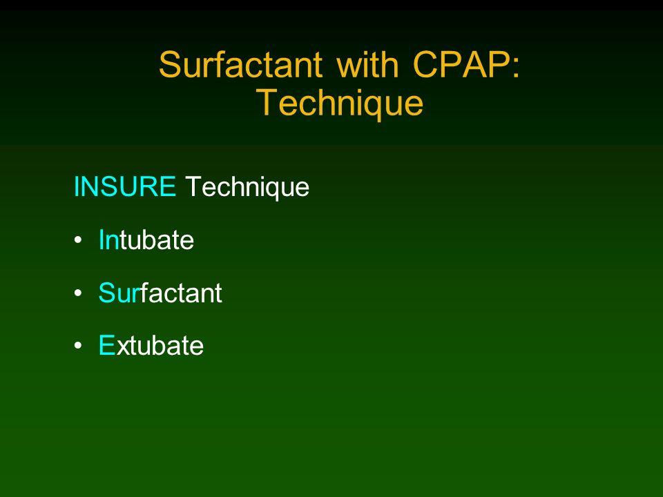 Surfactant with CPAP: Technique