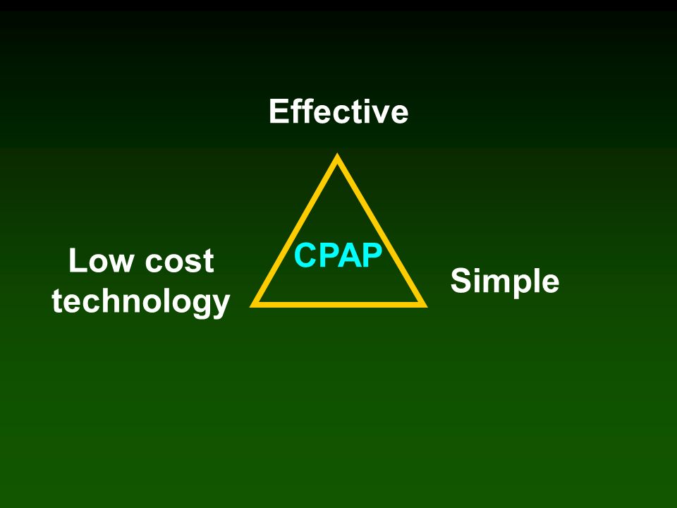 Effective CPAP Low cost technology Simple