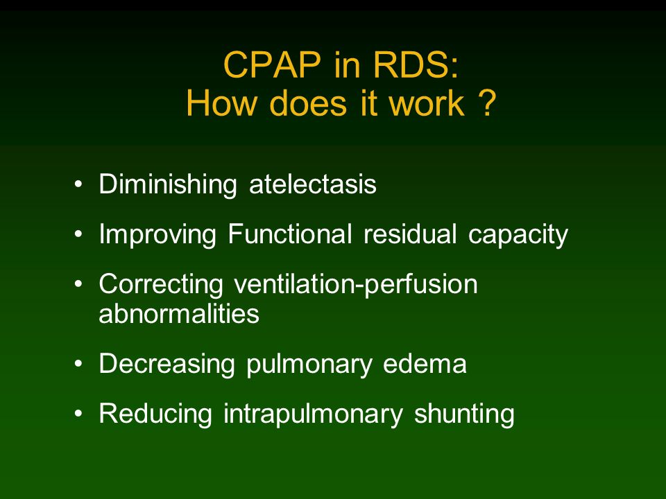 CPAP in RDS: How does it work