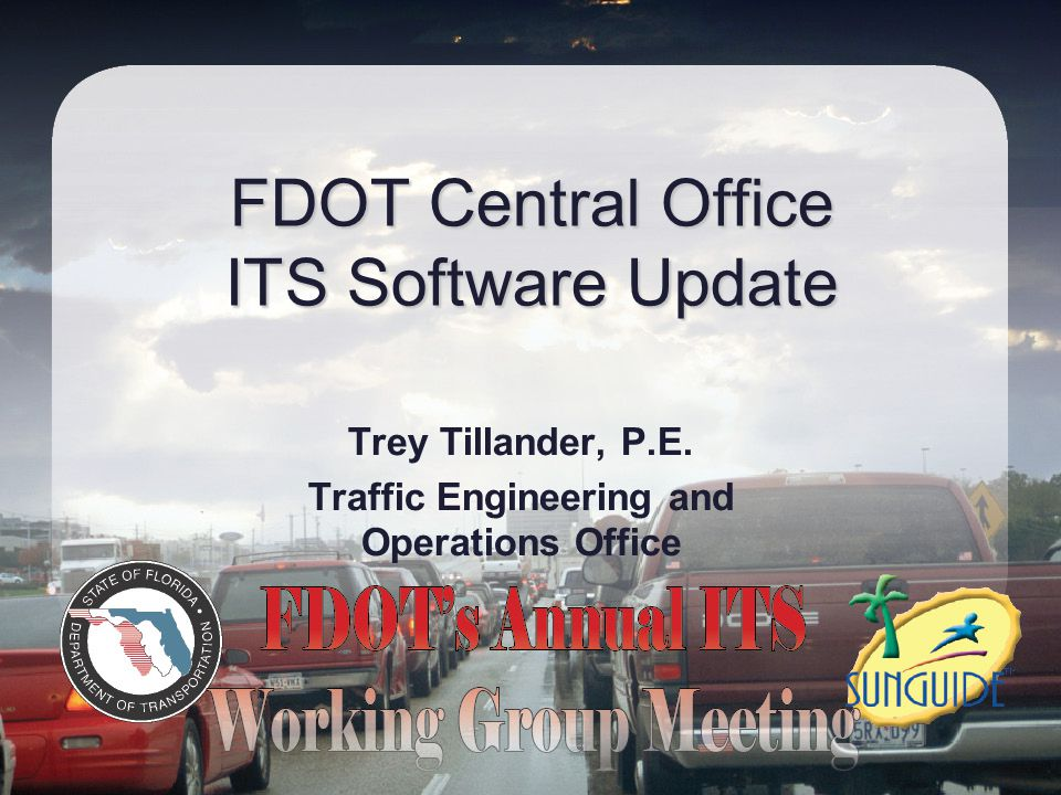 FDOT Central Office ITS Software Update