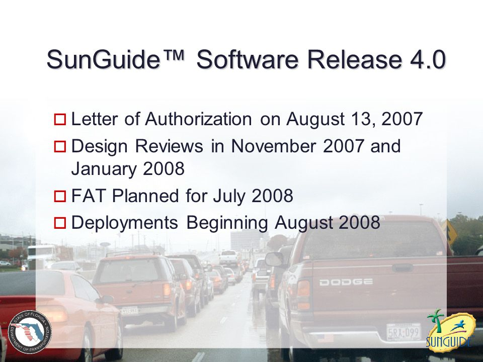 SunGuide™ Software Release 4.0
