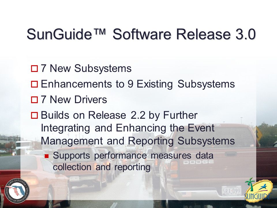 SunGuide™ Software Release 3.0