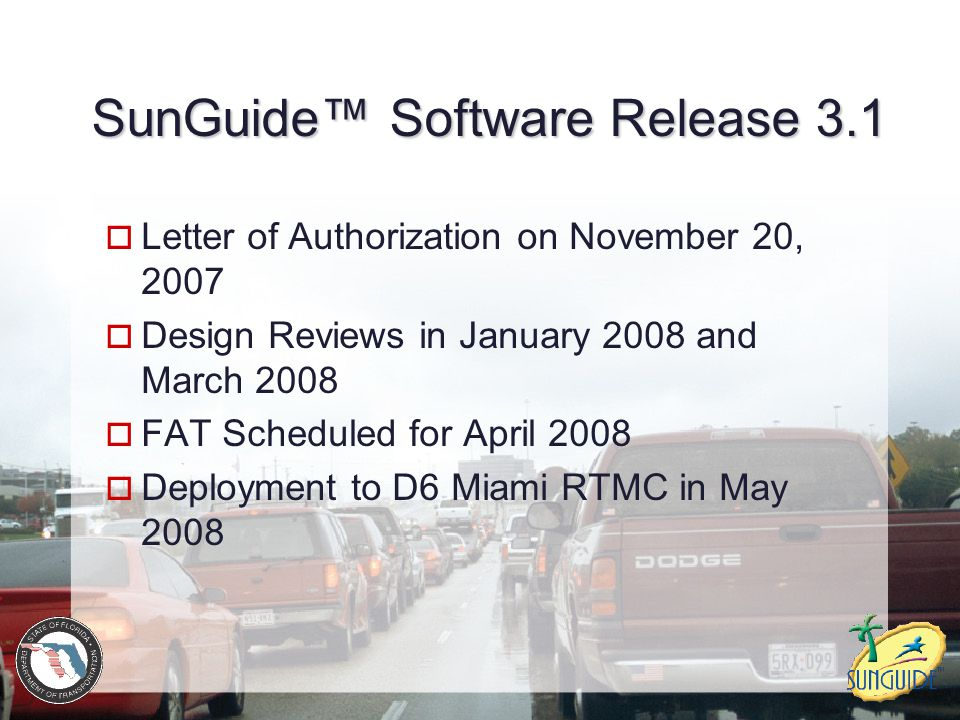 SunGuide™ Software Release 3.1