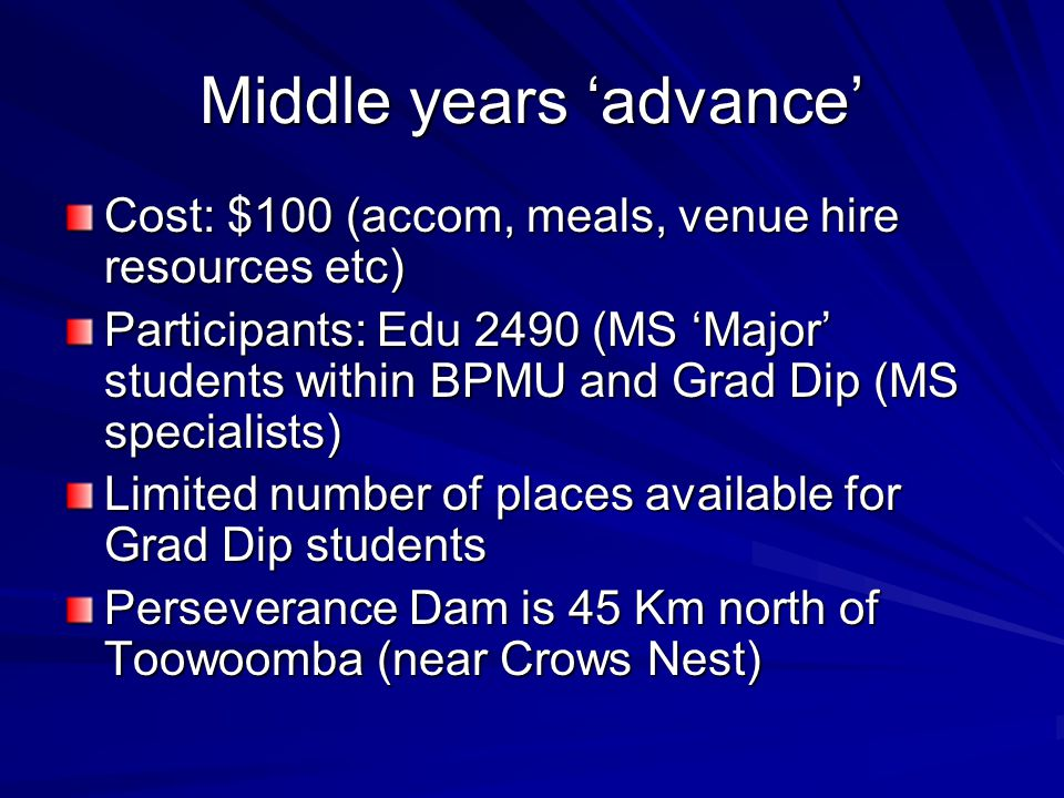 Middle years 'advance'