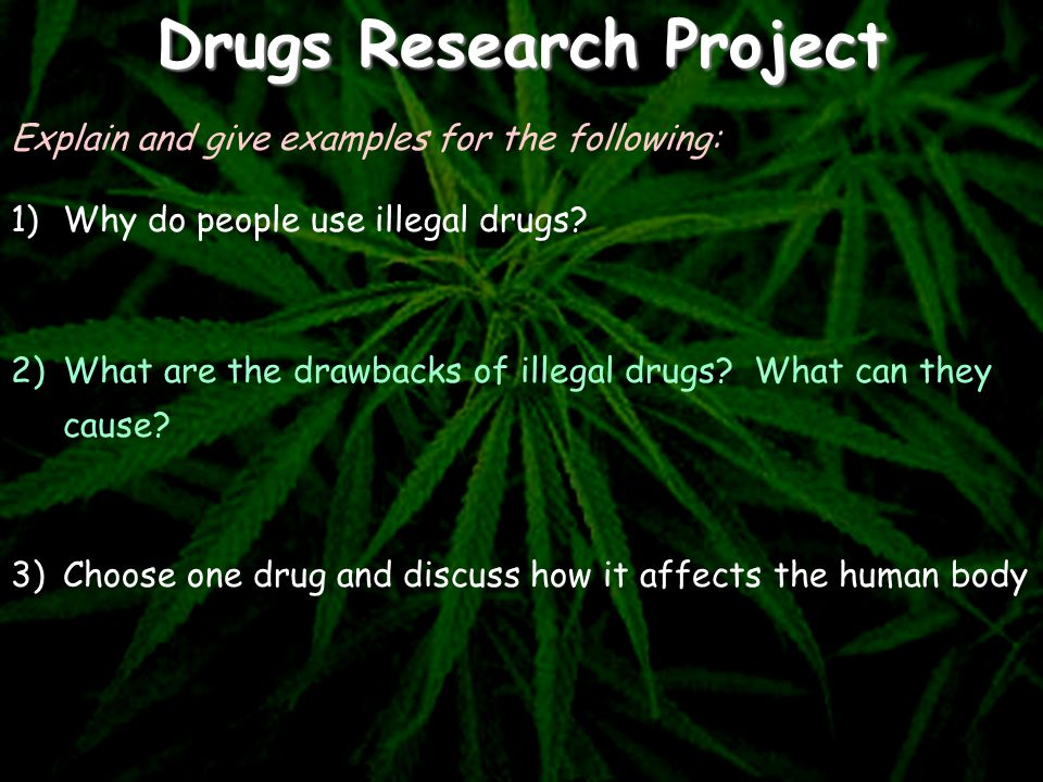 Drugs Research Project