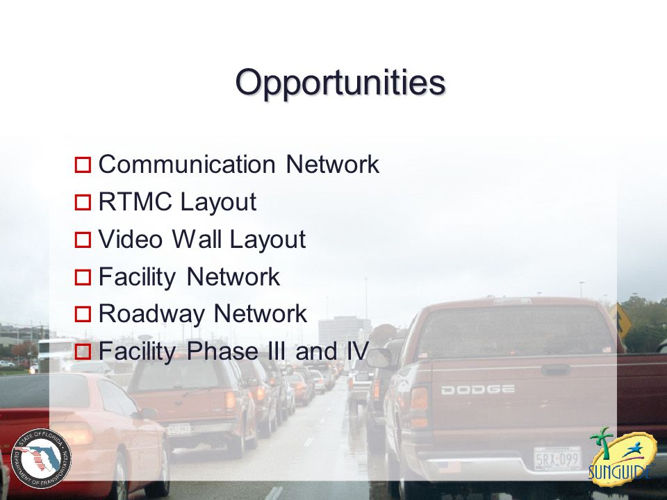 Opportunities Communication Network RTMC Layout Video Wall Layout