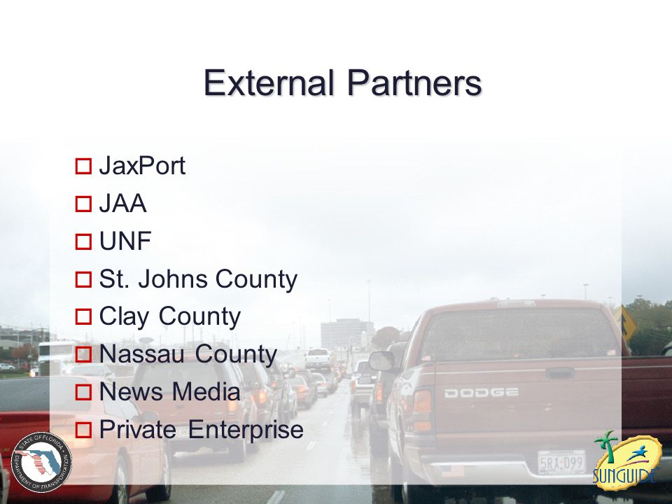 External Partners JaxPort JAA UNF St. Johns County Clay County
