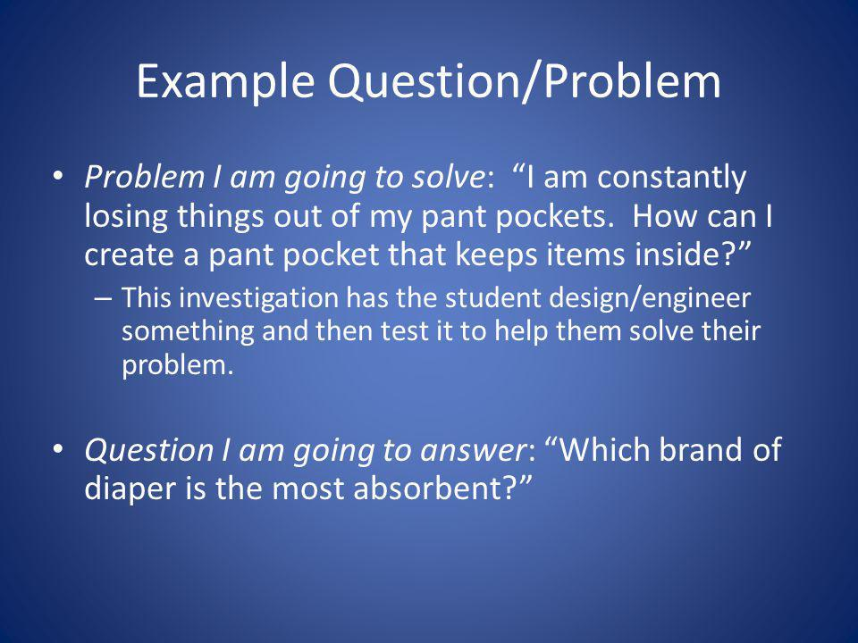 Example Question/Problem