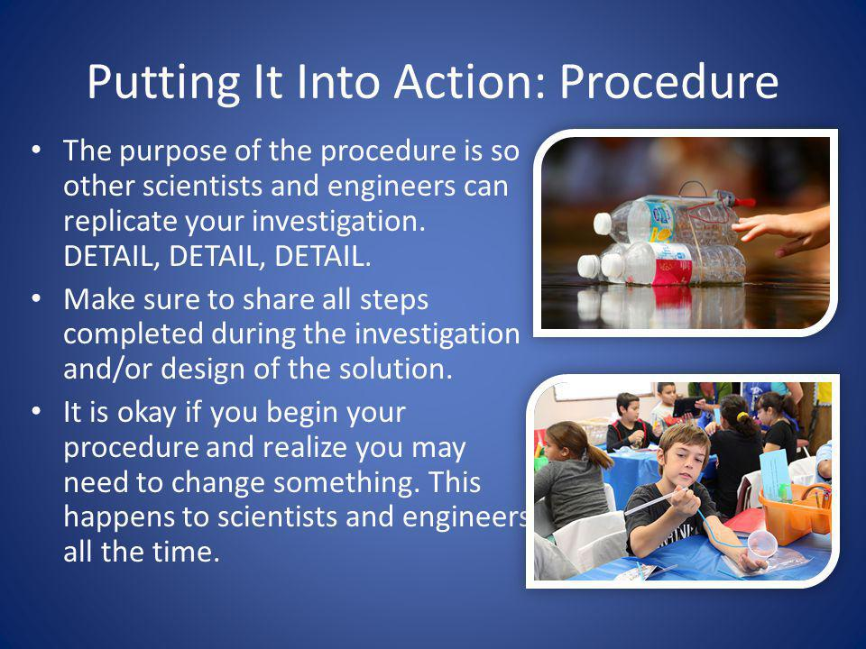 Putting It Into Action: Procedure
