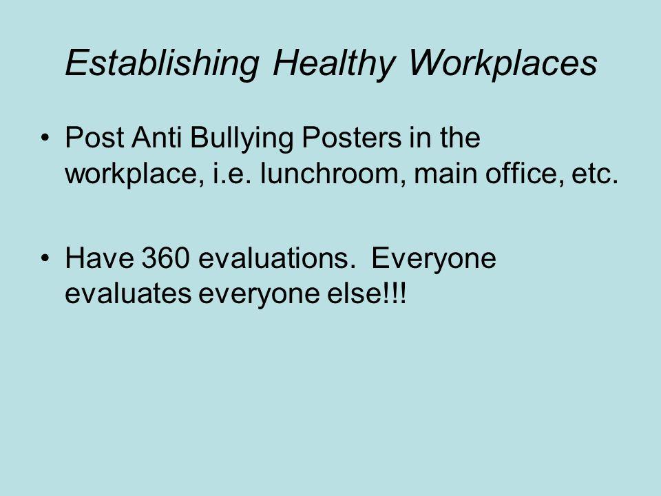 Establishing Healthy Workplaces