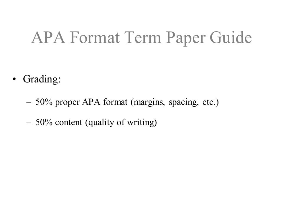 Write my sample apa term paper